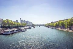 Seine. River Seine in Paris, water Stock Images