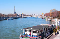 Paris from the river Sena Royalty Free Stock Photo