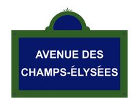 Paris road sign. Paris street sign for Avenue des Champs-Elysees, France Royalty Free Stock Image