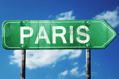 Paris road sign , worn and damaged look Stock Images
