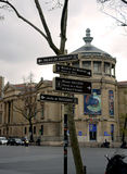 Paris road signage Stock Photos