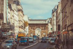 Paris. The road to the centre of Paris in the spring Royalty Free Stock Images