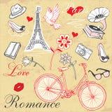 Paris Romance Set Stock Image
