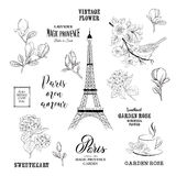 Paris romantic collection. Royalty Free Stock Images