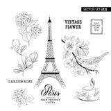 Paris romantic collection. Stock Photos