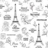 Paris romantic seamless pattern. Royalty Free Stock Photography