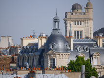 Paris Roofs and architecture. Roofs of Paris and french architecture from the most romantic city in the world Stock Photography