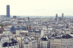 Paris roofs with a bird's-eye view from Notre Dame de Paris Stock Photos