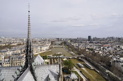 Paris roofs with a bird's-eye view from Notre Dame de Paris Stock Images