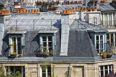 Paris roofs and cityview Stock Images