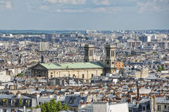 Paris roofs and cityview Stock Photography