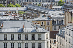 Paris roofs and cityview Royalty Free Stock Photography