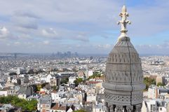 Paris Roofs from Sacre Coeur Royalty Free Stock Photography