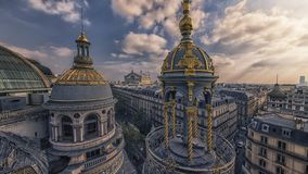 Paris city in evening royalty free stock photos
