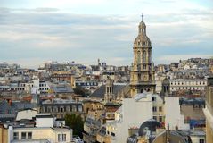 Paris rooftops. Scenic view on rooftops in Paris France Stock Photos