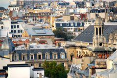 Paris rooftops. Scenic view on rooftops in Paris France Stock Image