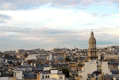 paris rooftops Royaltyfri Fotografi