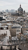 paris rooftops Royaltyfria Bilder