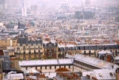 paris rooftops Arkivfoto