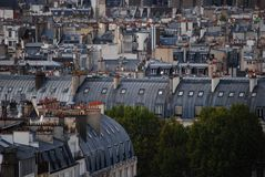 Paris rooftops Stock Images