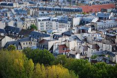 Paris rooftops Royalty Free Stock Photography