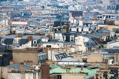 Paris rooftops aerial view Stock Images
