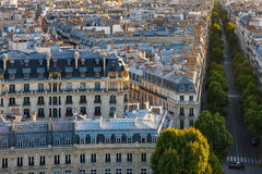 Paris rooftops - Aerial view Stock Photography