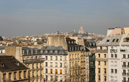 Paris rooftops and view of Montmartre Stock Photos