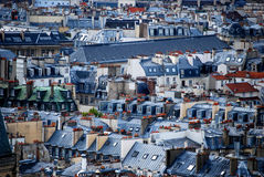 Paris Rooftops. A view over the rooftops of Paris Royalty Free Stock Images