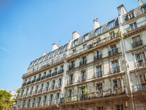Paris Rooftops. View on typical architecture in Paris, France Royalty Free Stock Photo