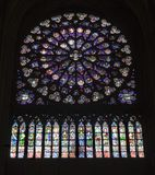 Paris - rosette from Notre-Dame cathedral Stock Photo