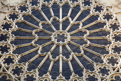 Paris - rosette in st.Denis cathedral Stock Image