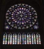 Paris - Rosette von der Notre- Damekathedrale Stockfoto