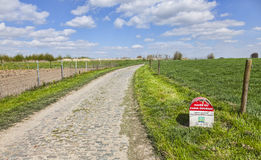 Paris Roubaix- Milestone Stock Image