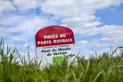 Paris Roubaix- Milestone Stock Photo
