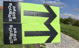 Paris Roubaix- Route Indicators Royalty Free Stock Images
