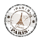 Paris rubber stamp stock image