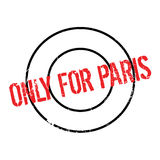 Only For Paris rubber stamp Stock Photo
