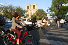 paris ruch drogowy Zdjęcia Royalty Free