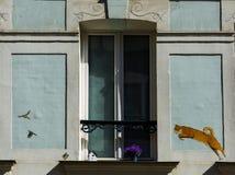 Paris- Rue Crémieux royalty free stock images