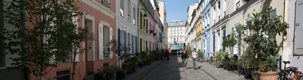 Paris- Rue Cremieux stock photo