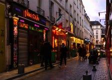 Paris - Rue de Lappe imagem de stock