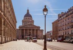 Paris Rue Soufflot, vers le Panteon fotografering för bildbyråer