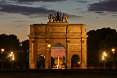 Paris's Arches at Night Stock Images