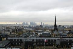 Paris`s district CITY.v. Paris`s view from the top of Notre Dame de Paris. Paris`s district CITY afar Stock Photos