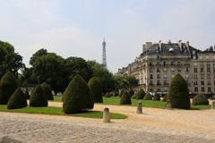 Paris's greenery Royalty Free Stock Photo