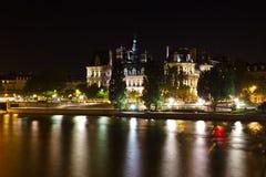 Paris's Hôtel de Ville at Night Royalty Free Stock Image
