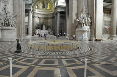 Paris's Pantheon. Foucault pendulum in Paris's Pantheon Stock Photography