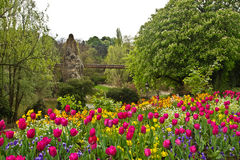 Paris's Parc de Buttes-Chaumont Stock Photo