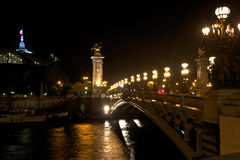 Paris's Pont Alexandre III Royalty Free Stock Image